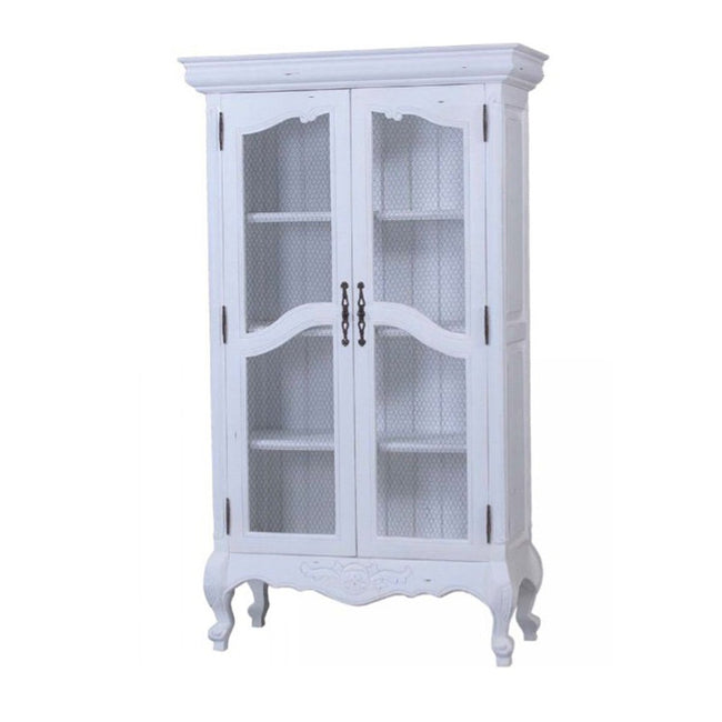 Chateau Linen Cupboard with chicken wire - Showhome Furniture