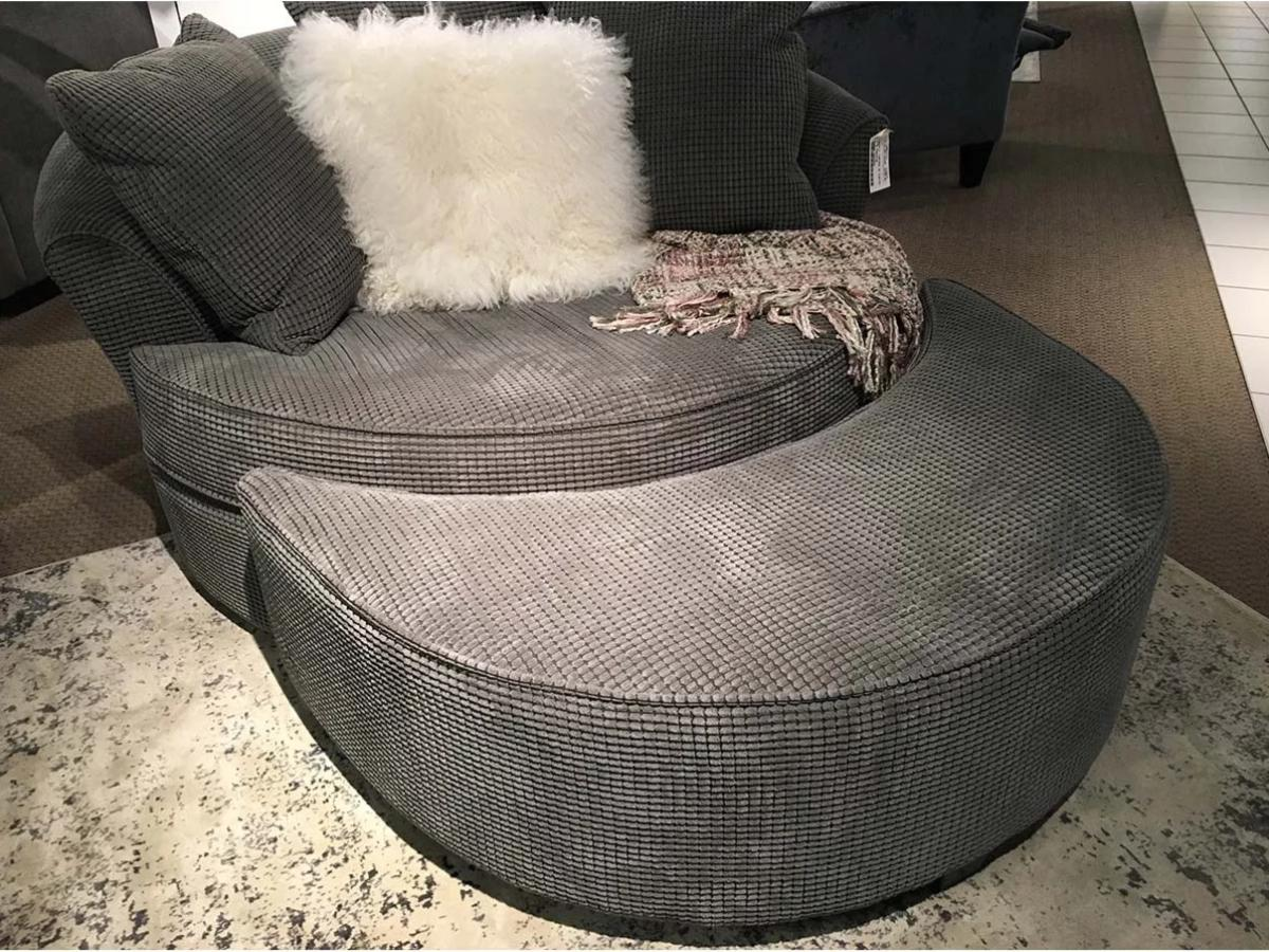 NEST CHAIR OTTOMAN CUSTOM MADE IN CANADA BY ELITE | Ottoman | Showhome Furniture