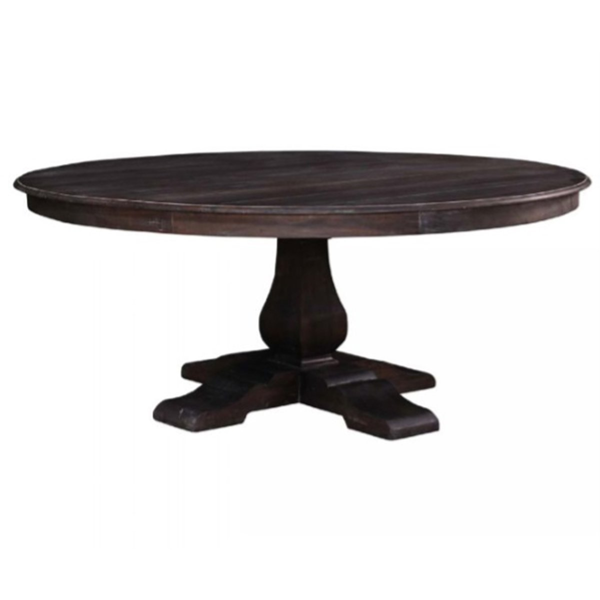 TRESTLE 6' ROUND DINING TABLE