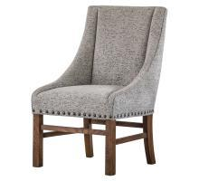 Aaron Nailhead Sloping Fabric Arm Chair, Drizzle Gray