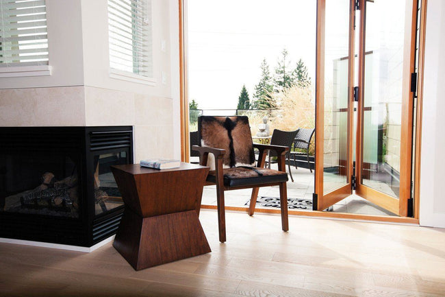 Rio Cool Armchair - Cool Brown & Leather | Calgary's Furniture Store
