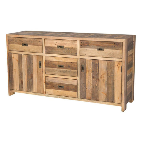 5 DRAWER DRESSER - RUSTIC SUNDRIED ASH
