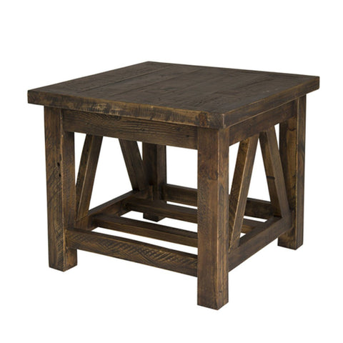 Solid Wood SIDE TABLE - SMOKEY BROWN - Showhome Furniture