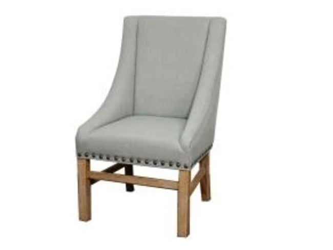 Aaron Sloping Arm Chair, Soft Blue | Calgary's Furniture Store