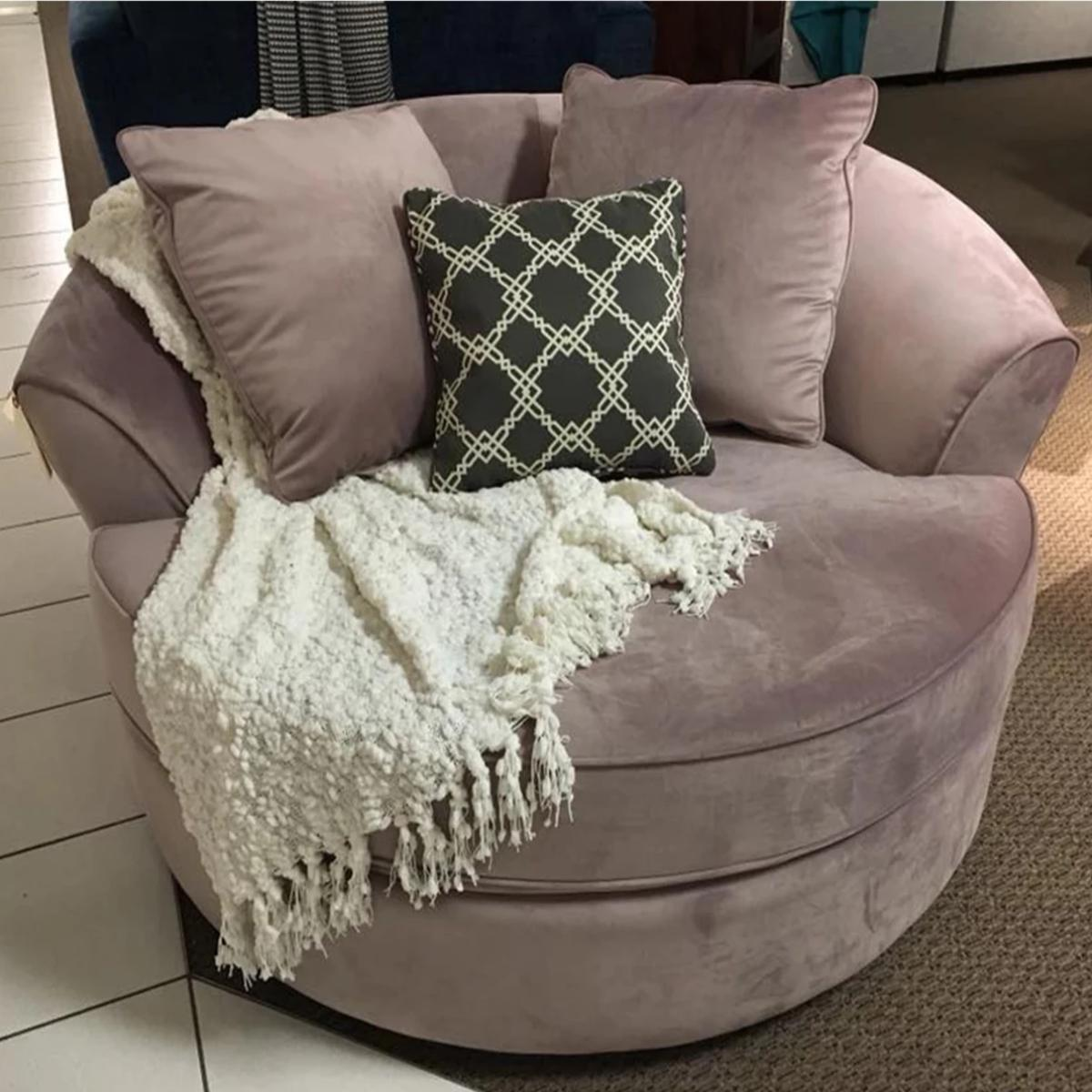 CUSTOM NEST CHAIR MADE IN CANADA - Blush | Showhome Furniture
