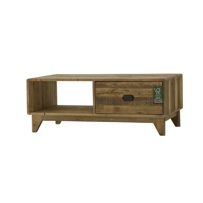 Recycled Pine wood MODERN COFFEE TABLE - Showhome Furniture