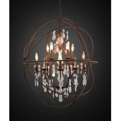 Metal Pendant Light - Clear/Bronze Finish