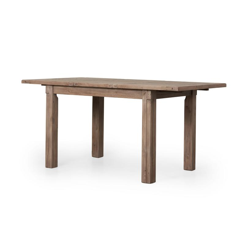 "CINTRA SMALL EXT DINING TABLE (47""/62"") - RUSTIC SUNDRIED ASH Tables Lh imports"