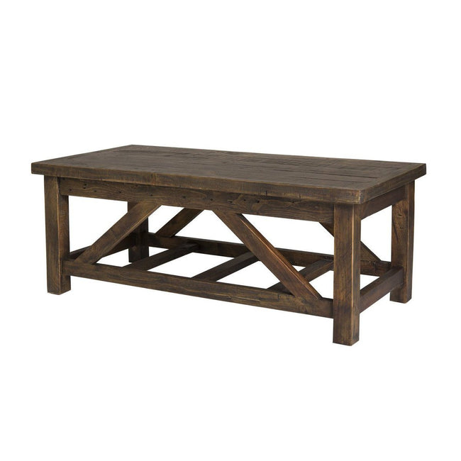 SOLID WOOD COFFEE TABLE - SMOKEY BROWN - Showhome Furniture