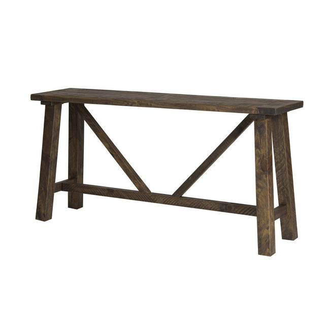 SOLID WOOD Console Table - Smokey Brown Console Table LH