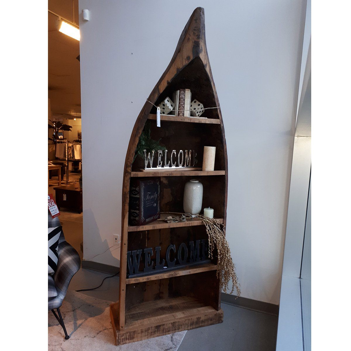 Good Earth Old Canoe Bookcase - Showhome Furniture