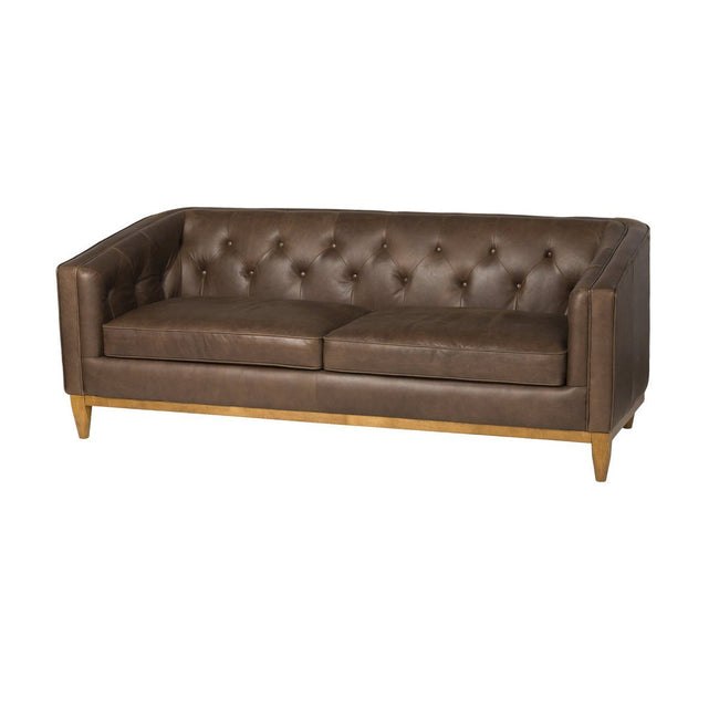LAS VEGAS CROMWELL SOFA - CHARME CHOCOLATE LEATHER - Showhome Furniture