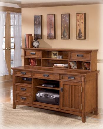 Cross Island - Home Office Short Desk Hutch - Showhome Furniture