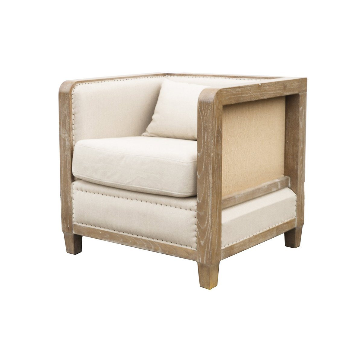 Deconstructed Club Chair - Antique Linen - Showhome Furniture