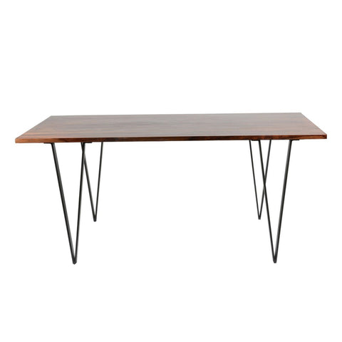 Solid Acacia Dining Table - Antique Black