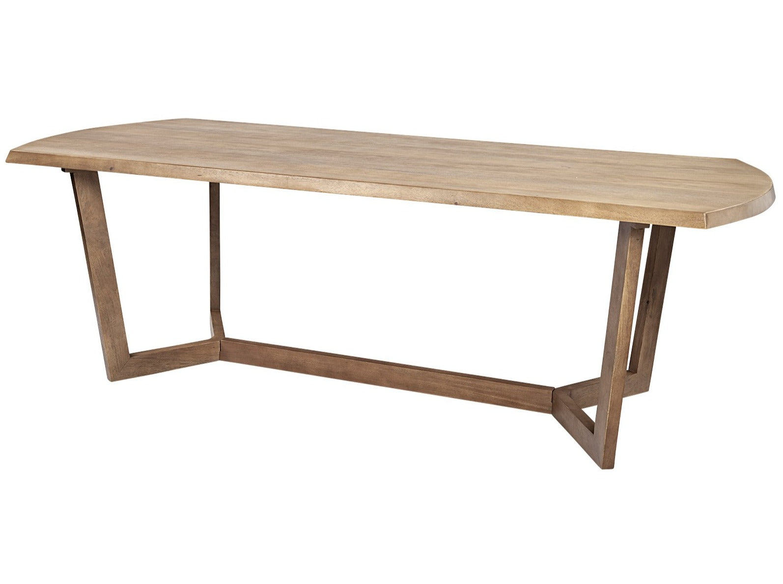 Denver Rectangular Brown Solid Wood Top Dining Table | Calgary's Furniture Store
