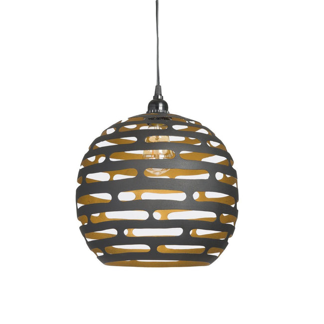 EARTH WIND FIRE LIGHTING PENDANT SMALL BLACK/GOLD - Showhome Furniture