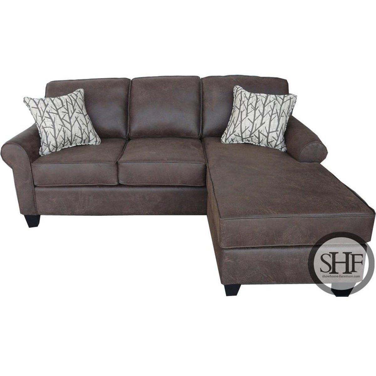 Flip Sofa W/Chaise and Queen Sofa Bed - Showhome Furniture