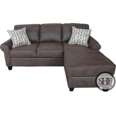 Accrington - Earth - LAF Corner Chaise & RAF Sofa Sectional