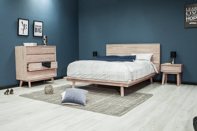 Ruth Modern Solid Wood Bed - King/Queen Available | Calgary's Furniture Store