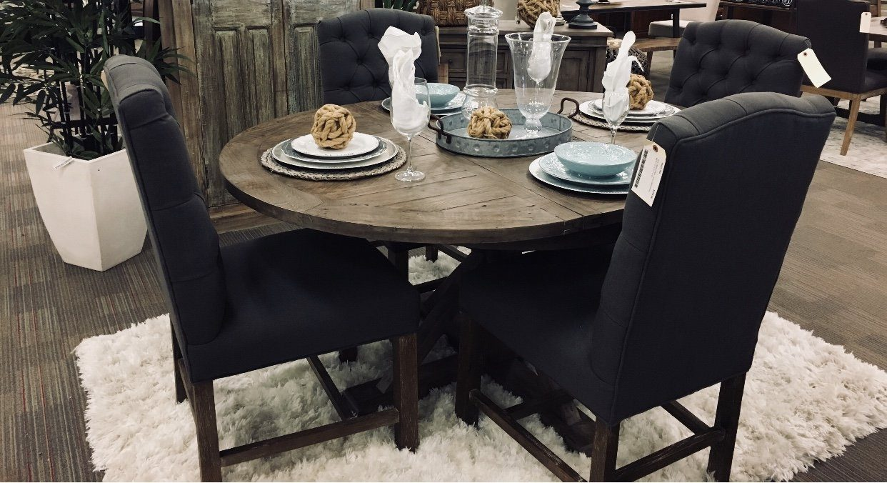 Irish Coast Sundried Round Extension Dining Table Dining Tables LH