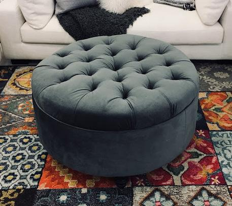 Astoria Round Tufted Ottoman - Showhome Furniture