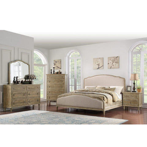 LOW FOOTBOARD QUEEN BED - GREY WASH