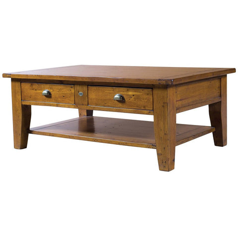 POST & RAIL REGULAR COFFEE TABLE - SUNDRIED LIGHT