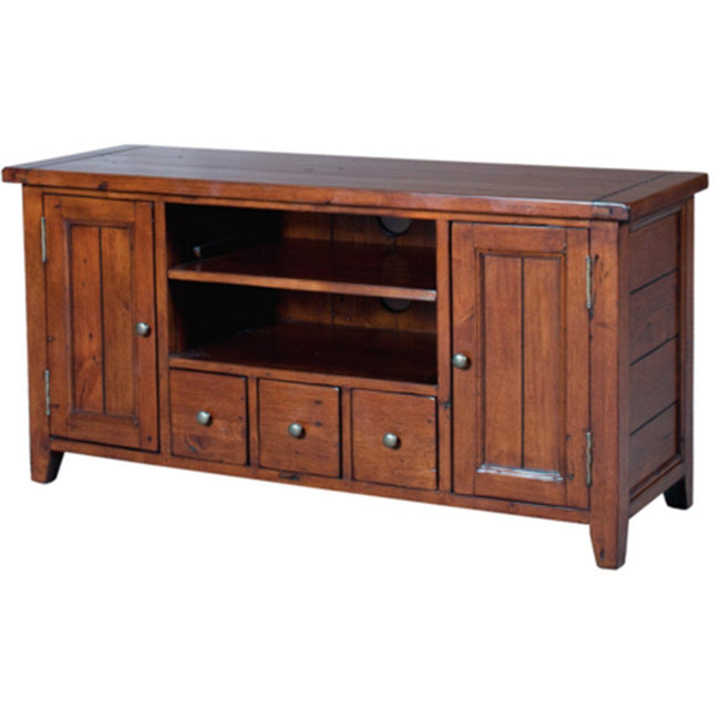 SOLID WOOD Small TV Cabinet - African Dusk Tv Stand Showhome Furniture