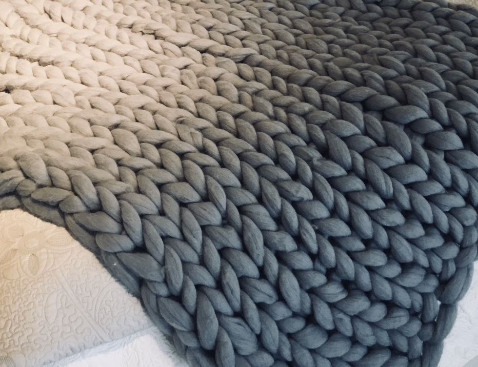 REAL MERINO WOOL CHUNKY THROW- 36 by 60 inches | Calgary's Furniture Store