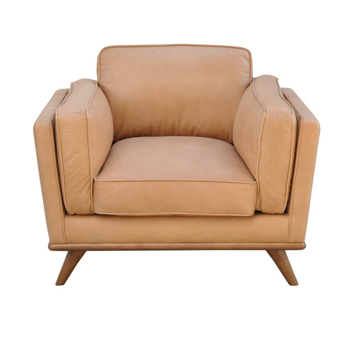 Las Vegas Aria Accent Chair - Charme Nude Leather - Showhome Furniture
