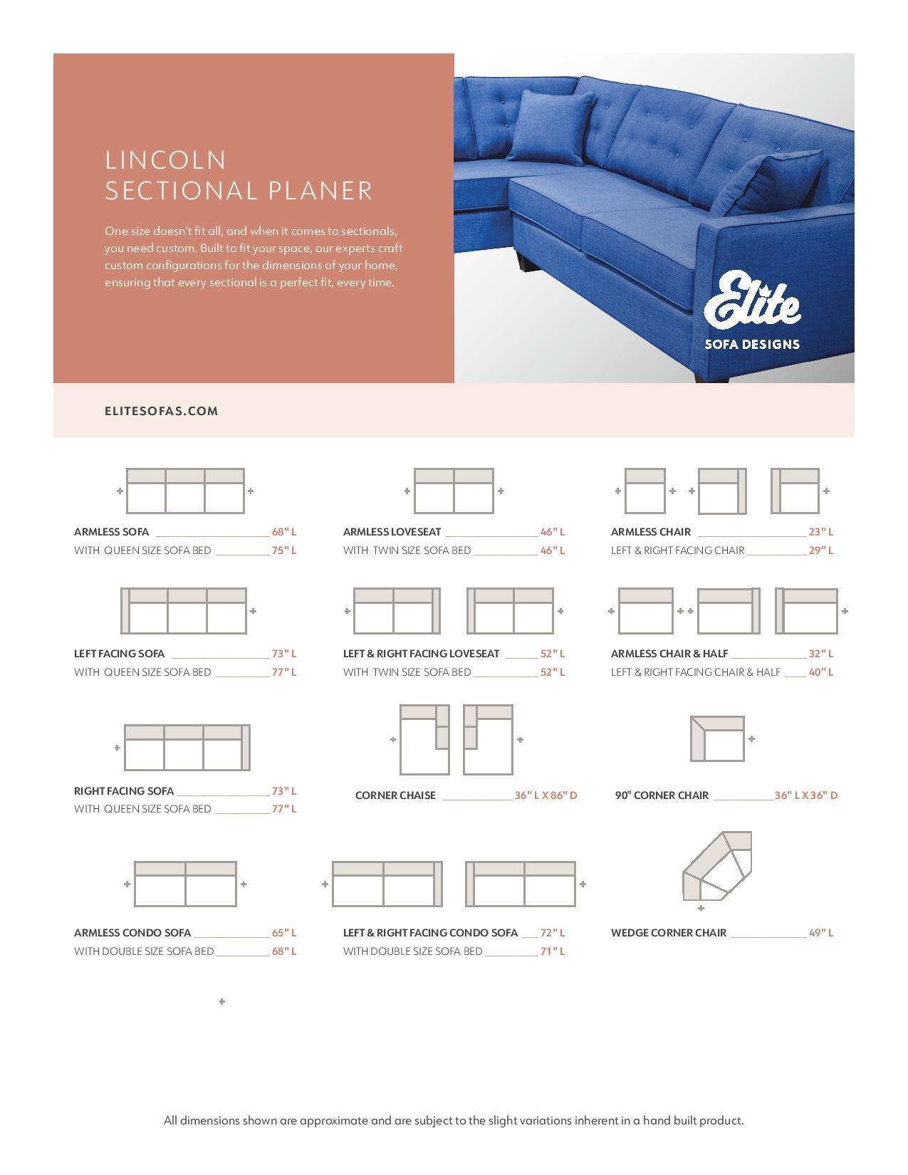 Lincoln Custom Sectional w/Corner Chaise - Made in Canada Sectionals Showhome Furniture