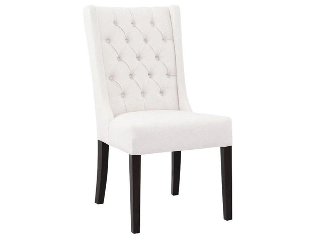 Lauren Tufted Chair - White Russian | Calgary's Furniture Store