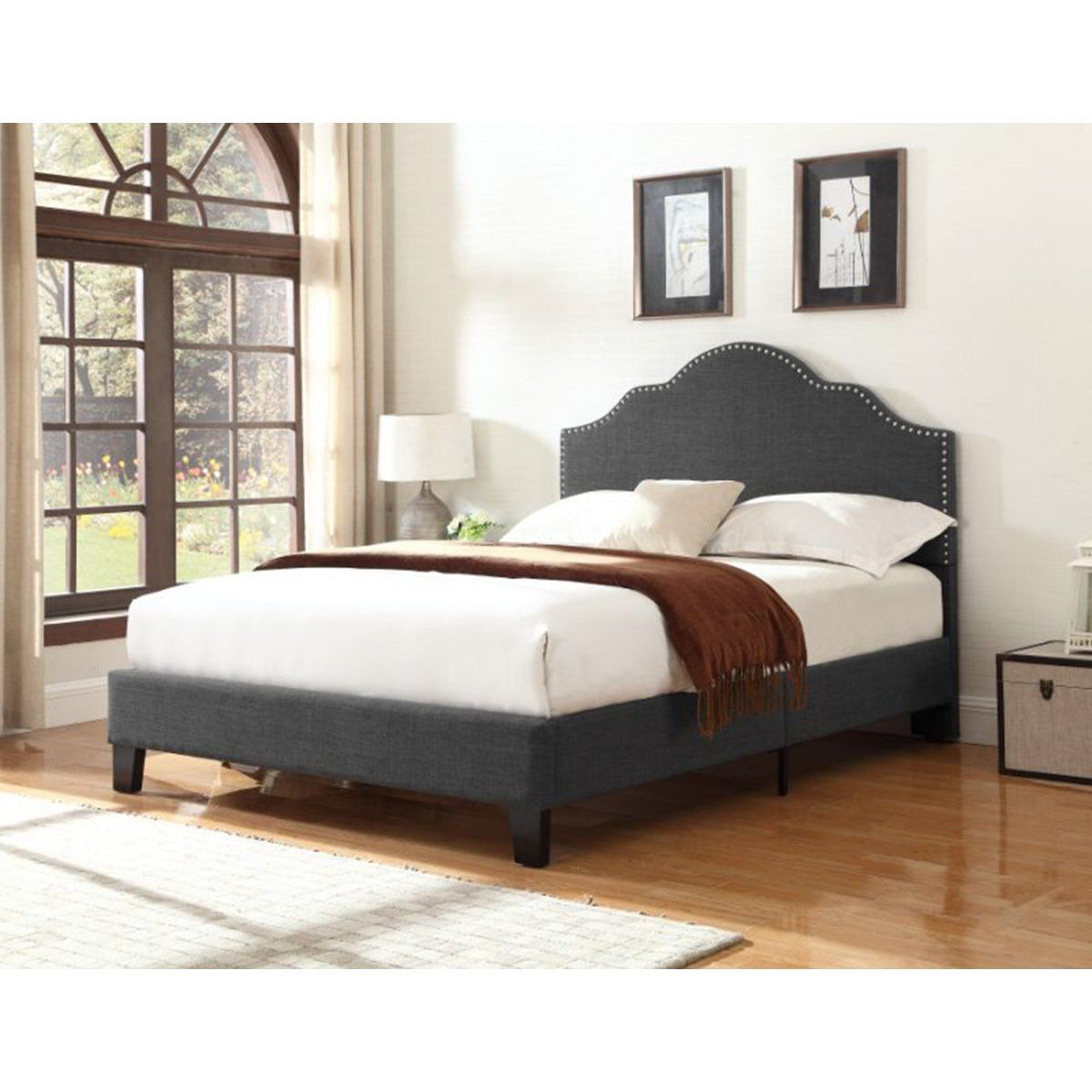 MADISON COMPLETE UPHOLSTERED BED Beds Emerald Home