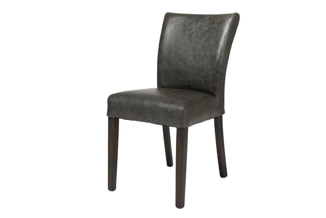 MARLOW DINING CHAIR - BLACK TOP GRAIN LEATHER | Calgary's Furniture Store