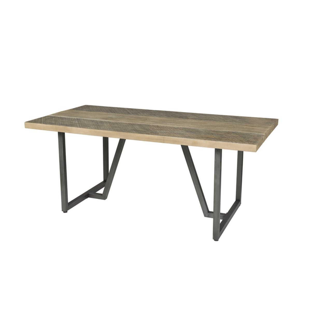 METRO HAVANA DINING TABLE - TWO TONE - Showhome Furniture