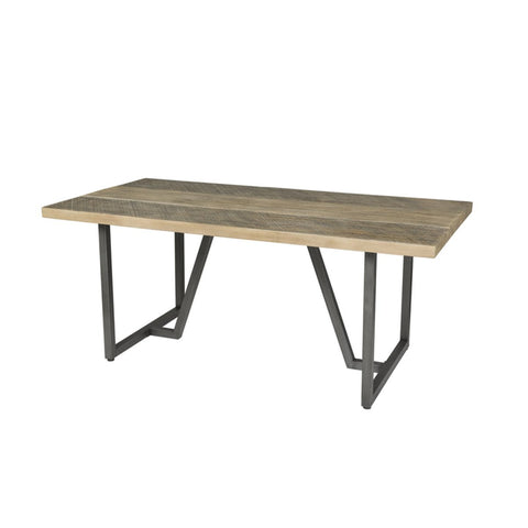hardwood rectangular Dining Room EXT Table