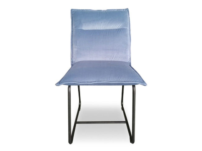 Mapleton Dining Chair in Icy Blue Velvet | Calgary's Furniture Store