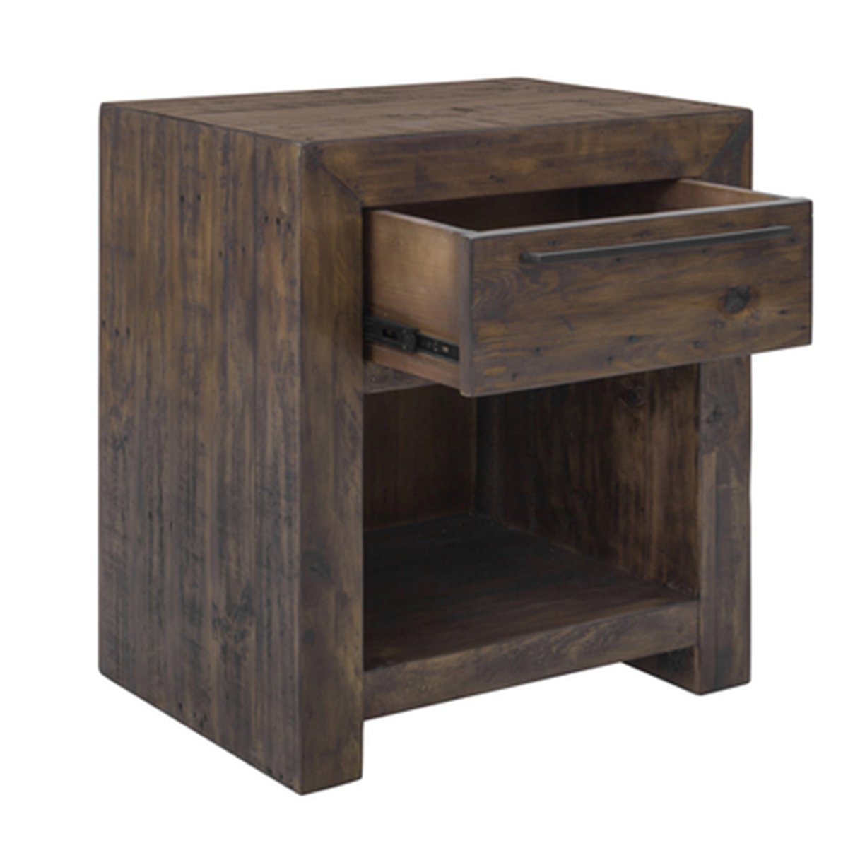 Solid Wood MODERN NIGHTSTAND - COFFEE BEAN - Showhome Furniture