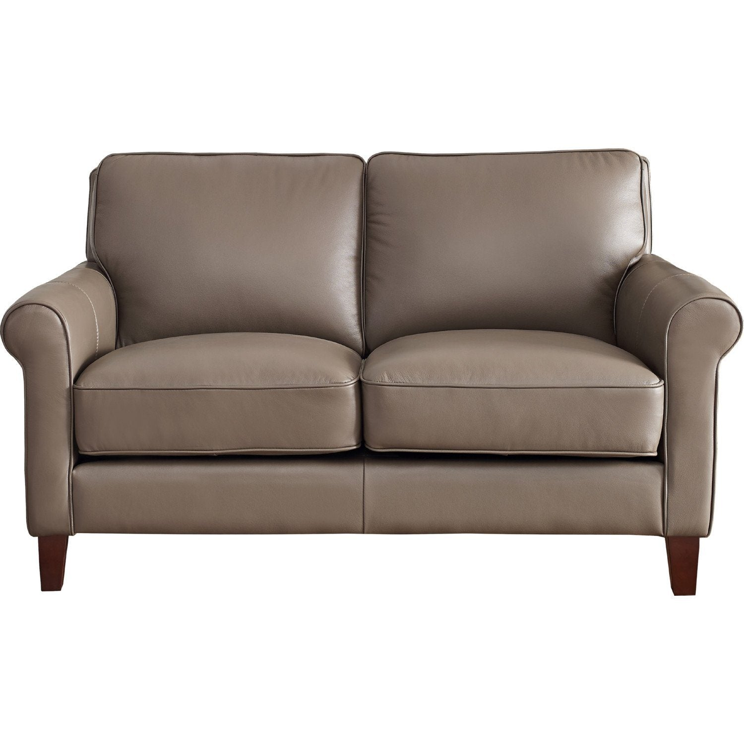 New London Top Grain Custom Leather Loveseat, Made in Canada 🇨🇦 | Calgary's Furniture Store