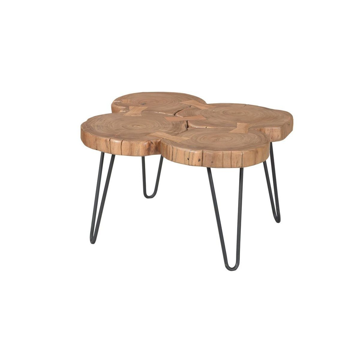 Solid acacia wood organic small coffee table