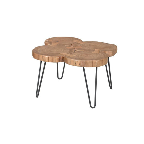 Solid Acacia Wood Organic Small Coffee Table - Showhome Furniture