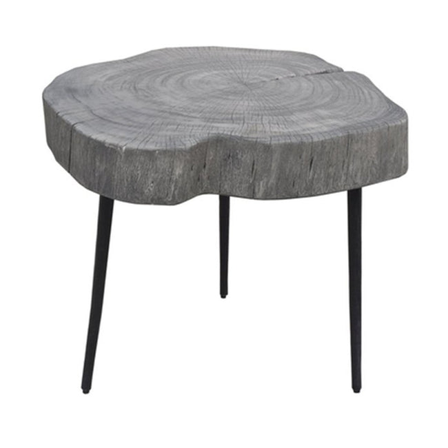 ORGANIC TRUNK SIDE TABLE - RUSTIC GREY Side Table LH