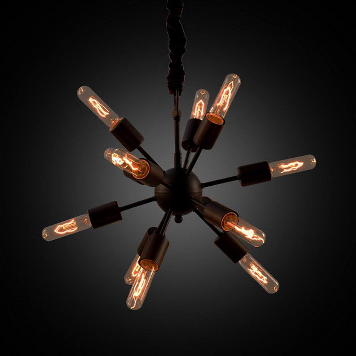 ORION SMALL CHANDELIER WITH LAMP BULB Lighting LH