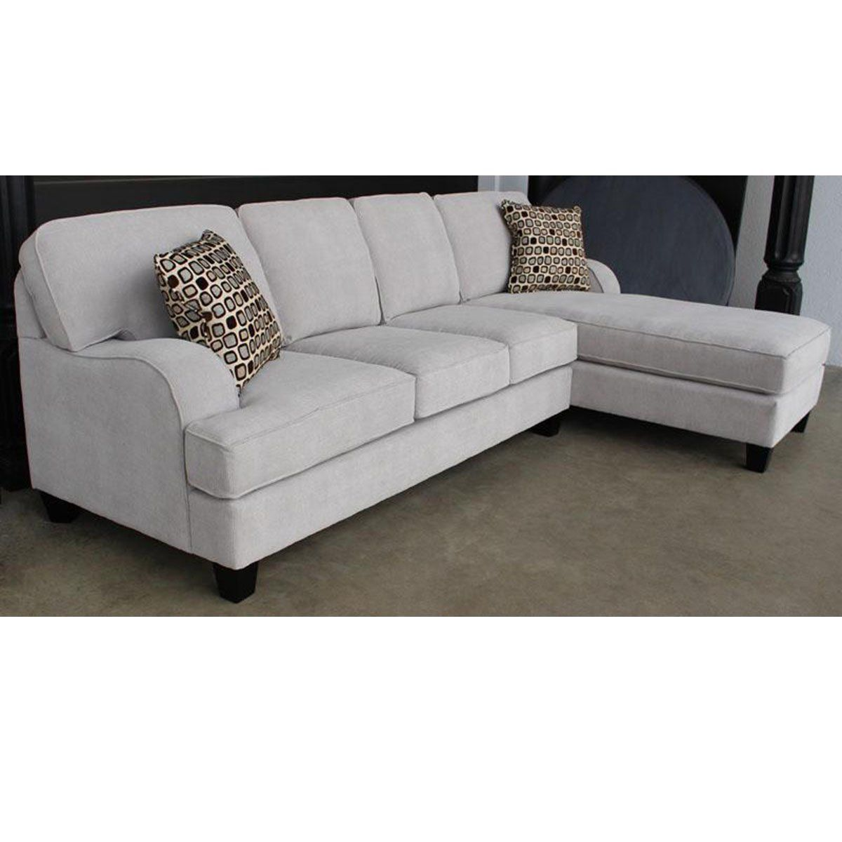 Philly 2 Piece Sofa Chaise Sectional - Made in Canada | Sofas | Showhome Furniture