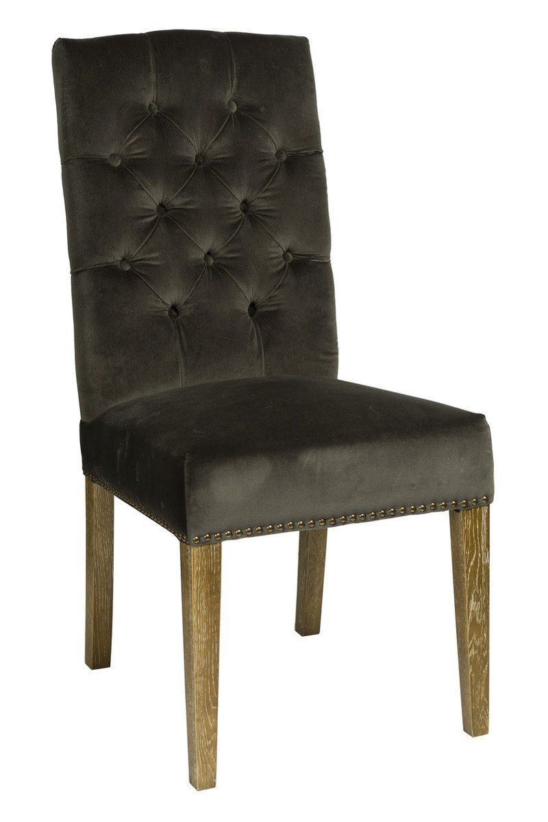 SOLID WOOD DINING CHAIR TUFTED WITH VELVET FABRIC Dining Chairs LH