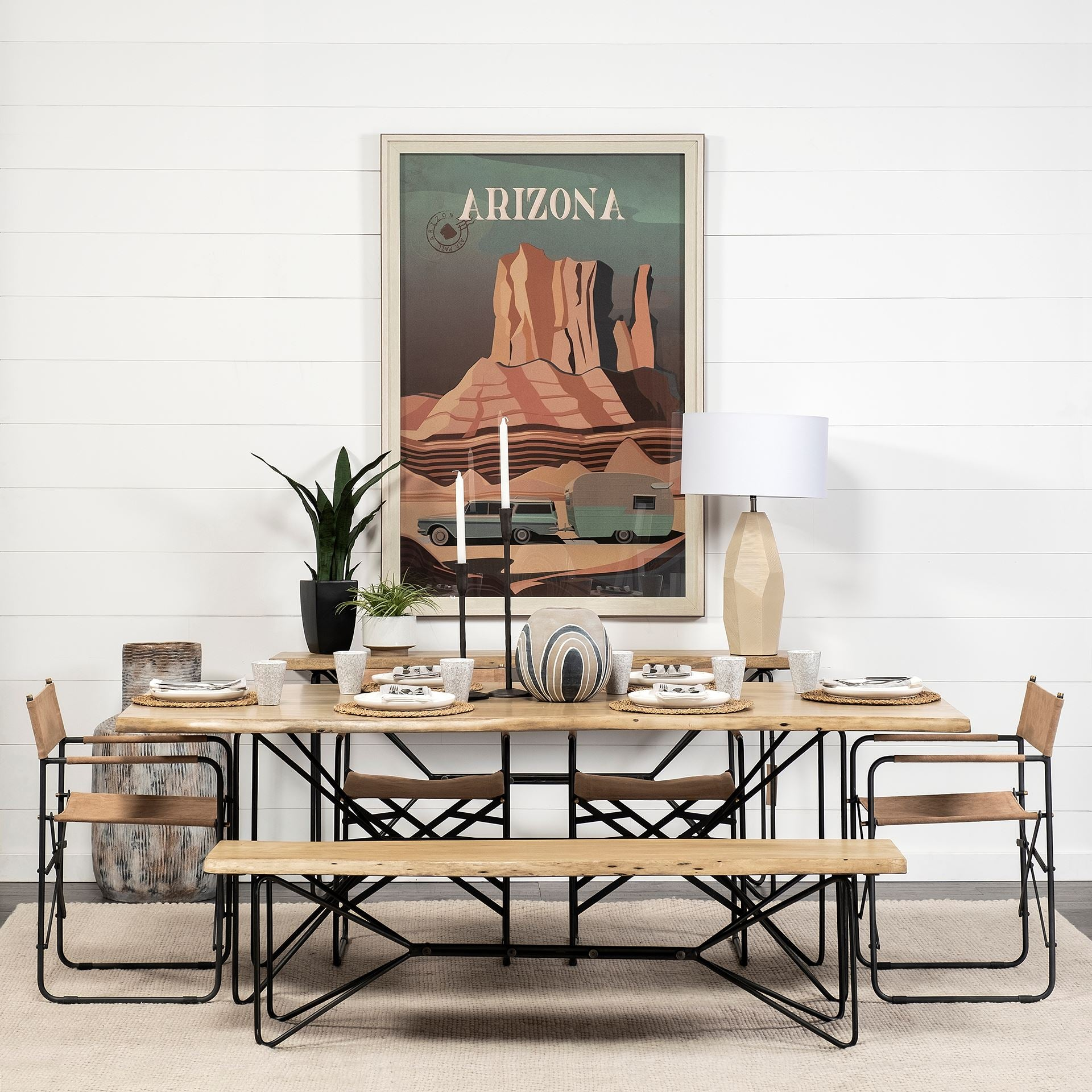 The Papillion II Live Edge Acacia Wood Dining Table | Calgary's Furniture Store