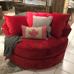 CUSTOM NEST CHAIR MADE IN CANADA - Red - Showhome Furniture
