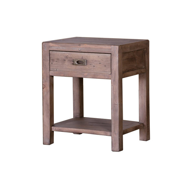 Post and Rail REGULAR END TABLE - SUNDRIED - Showhome Furniture