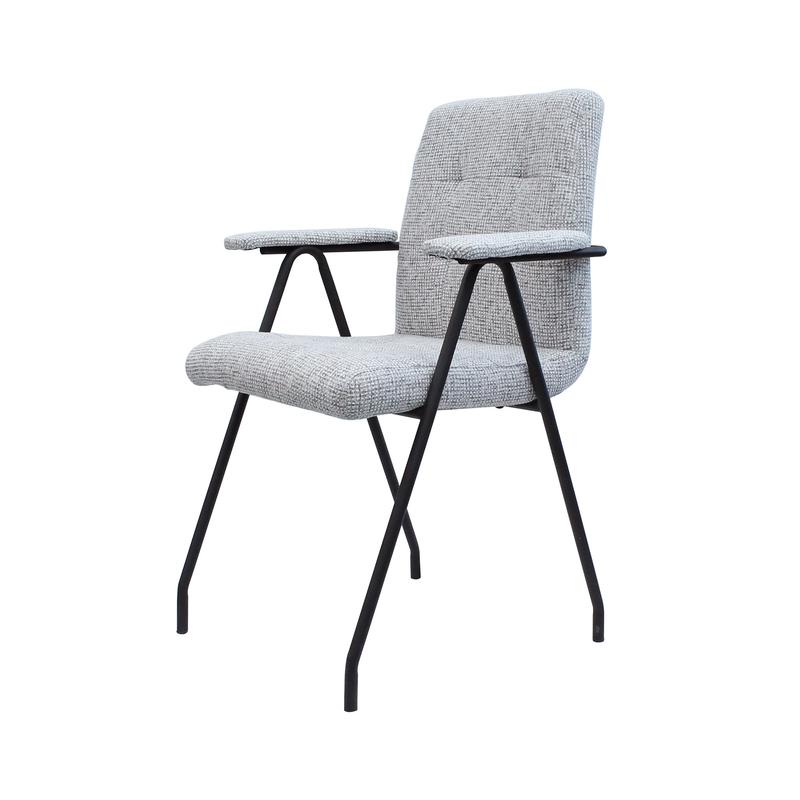 RETRO DINING CHAIR - LIGHT GREY TWEED | Calgary's Furniture Store